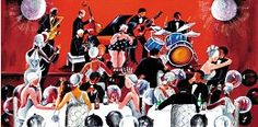 Annie Lee The Party Canvas Giclee