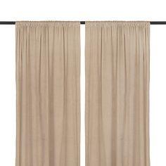 Stone Velvet Curtain Panel Set, 84 in.