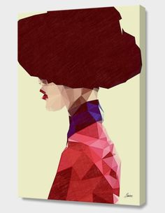 """""""Chic Hat"""", Exclusive Edition Canvas Print by Mayka ienova  - From $69.00 - Curioos"""