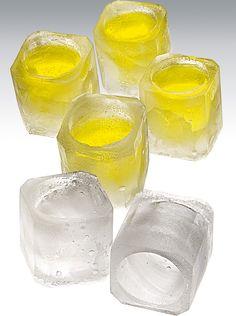 Molde de silicona para cubitos de hielo en forma de vaso