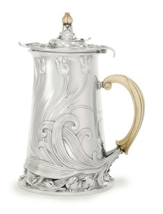 A French Silver Art Nouveau Chocolate Pot, Cardeilhac, Paris, circa 1900.