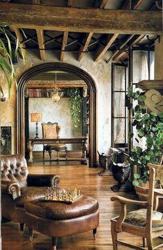Old World Living Room Design. Old World Living Room Design. 16 Classic Old World Interior Design Ideas Tuscan Decorating, Decorating Your Home, Decorating Ideas, Decorating Websites, Interior Decorating, Decorating Kitchen, Modern Rustic Interiors, Rustic Modern, Interior Modern