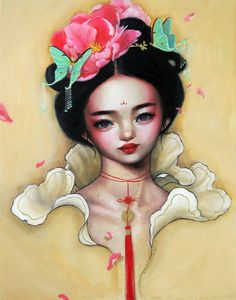 Empress I - Oil painting by Happy D Artist