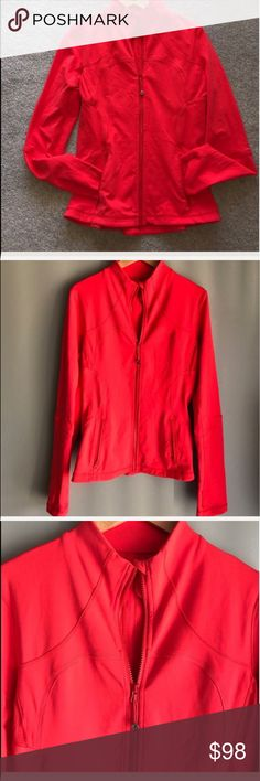 Lululemon Forme Jacket Lululemon Forme Jacket good to very good condition. Tag was taken out. Searched for size dot and cannot find it. Based on my friends sizing I would believe that this is a 6 or 8. Listed as a Size 6 based on the style of jacket it is. lululemon athletica Jackets & Coats