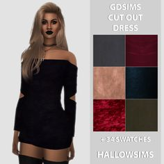 The Sims 4: Hallow Sims - GDSIMS CUT OUT DRESS