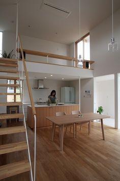 all wood and white super minimal interior design Tiny House Cabin, Loft House, Home Design Plans, Home Interior Design, Loft Design, House Design, Style At Home, Ideas Cabaña, Tiny Loft