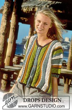 DROPS 41-17 - DROPS sweater in Muskat with stripes and texture - Free pattern by DROPS Design