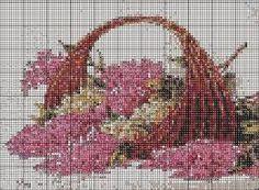 cestas de flores en punto de cruz patrones gratis - Buscar con Google
