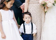 How adorable is this little one?! http://www.stylemepretty.com/2016/05/05/a-wedding-that-proves-peonies-are-always-a-good-idea/ | Photography: Lacie Hansen - http://laciehansen.com/