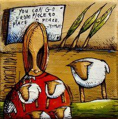 Artwork of Hanlie Kotze exhibited at Robertson Art Gallery. Original art of more than 60 top South African Artists - Since Bible Verse Coloring Page, Coloring Pages, South African Artists, Angel Pictures, Canvas Paintings, Art Journal Inspiration, Inspiring Art, Art Journals, Sadness