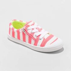 Cat /& Jack Girls Youth White Jory Lace High Top Canvas Sneakers