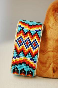 Indian Beadwork, Native Beadwork, Native American Beadwork, Native American Jewelry, Bead Loom Bracelets, Beaded Bracelet Patterns, Bead Loom Patterns, Beadwork Designs, Loom Beading