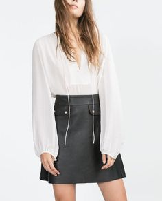 Image 2 of BLOUSE WITH YOKE from Zara