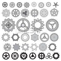 Engrenage Steampunk de collecte de vitesse de la machine roue vecteur cr maill re un ensemble de rou Banque d'images