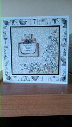 Birthday card using craftwork cards vintage ephemera paper