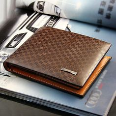 hot Fashion Men's PU Leather Wallet Pocket Card Clutch ID Credit Bifold Purse