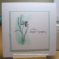 Unfortunately, I had occasion to make two sympathy cards for people I hold dear, both of whom lost their respective Mums last week.     My...