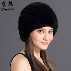 QiuMei Women's Winter Hats Lined Natural Real Fur Cap New Fur Knitted Cap Women Pineapple Hat Genuine Mink Fur Hat Female Winter //Price: $28.99 & FREE Shipping //     #hashtag1