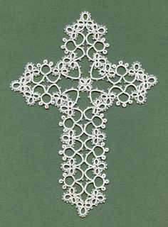 Tatted Josephine Cross, design by Ben Flikkert