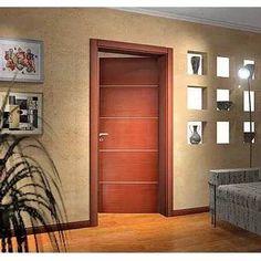 puerta placa de interior 80*10 cedro c/ insertos de aluminio