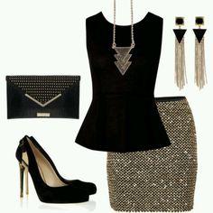 Black and gold....glamorous