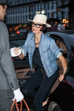 The hat and denim are the perfect combo for the NOW woman. Shop the look!