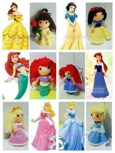 Bella, Blanca Nieves,La sirenita,Ariel,Bella Durmiente,Cenicienta