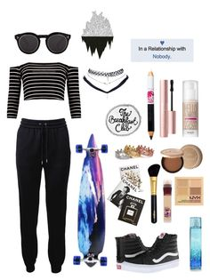 """""""My favorite!!!❤️"""" by ailis-colon ❤ liked on Polyvore featuring Barbara Bui, Vans, Illesteva, Benefit, Too Faced Cosmetics, Maybelline, NYX, Sisley, Eternally Haute and Assouline Publishing"""