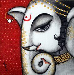 Ganesha Ganesha Drawing, Lord Ganesha Paintings, Ganesha Art, Jai Ganesh, New Rangoli Designs, Beautiful Rangoli Designs, Canvas Painting Quotes, Madhubani Art, Mandala