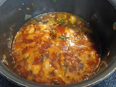 Portuguese fava beans in sauce recipe. Dried shelled Portuguese fava beans cooked until tender then simmered in a hot and spicy Portuguese sauce.