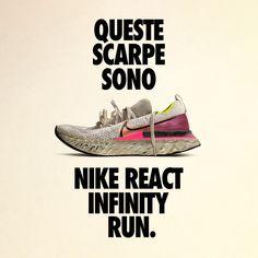 Scarpa da running Nike React Infinity Run Flyknit - Donna. Nike IT French Wardrobe Basics, Running Nike, Running Trainers, Cute Tattoos For Women, Nike Workout, Fitness Workouts, Tattoo Videos, Tan Girls, Graphic Design Posters