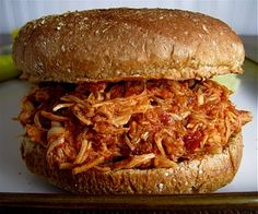 Stephanie Cooks: Crockpot Pulled Chicken. Excited to try this tomorrow night for friends! 7-24-12