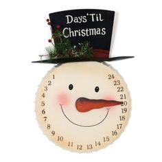 Snowman Countdown Plaque