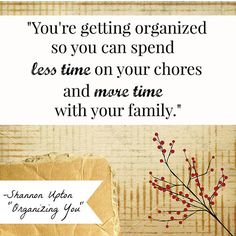 Organizing You Quote from Christian Speaker/Author Shannon Upton