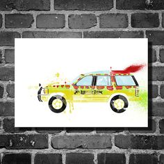 Jurassic Park vehicle movie poster minimalist poster art wall art home decor      This print was created using archival pigment inks, and is