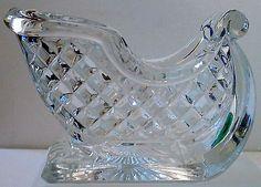 VINTAGE-HEAVY-24-LEAD-CUT-GLASS-CRYSTAL-SLEIGH-CANDY-DISH-VASE