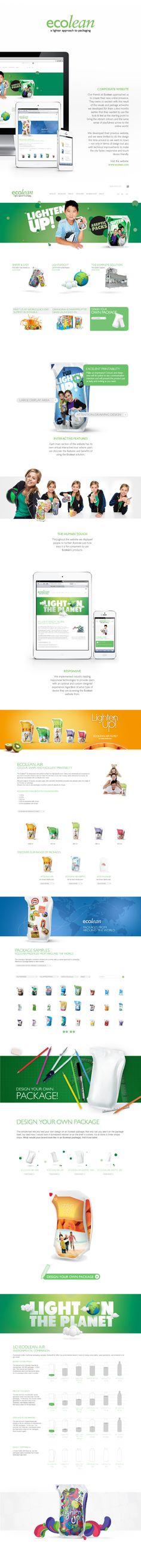 Ecolean website by Binalogue #web #design #webdesign   http://www.behance.net/gallery/Ecolean-website/11064643