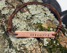 Personalized beaded leather bracelets | Etsy