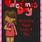 Valentine's+Day+Activity+Pack+Print+and+Go!  These+are+some+Great+Valentines+Day+sheets+that+encourage+creative+writing,+math,+and+thinking!+  My+V...