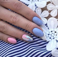 Nail Shapes - My Cool Nail Designs Chic Nails, Stylish Nails, Trendy Nails, Gem Nails, Love Nails, Hair And Nails, Almond Acrylic Nails, Round Nails, Nagel Gel