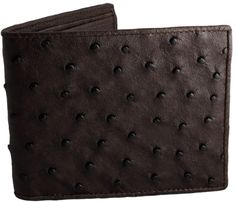 Ostrich Wallets Genuine Ostrich Leather Wallet, $189.00 http://www.realmenswallets.com/product/ostrich-wallet-genuine-leather-wallets/