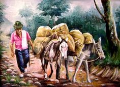 El Museo de Alberto: Arrieros Leg Routine, Farmer, Folk Art, Watercolor, Retro, Artwork, Pictures, Painting, Selection