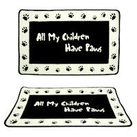 All My Children Have Paws Indoor Mat / theanimalrescuesite.greatergood.com/store