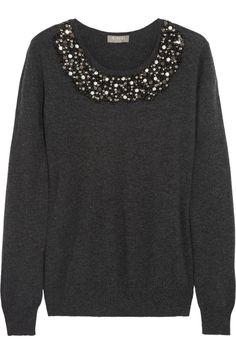 Embellished cashmere sweater by N.Peal Cashmere