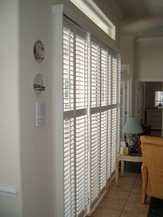 Plantation Shutters On A Sliding Glass Door   Products   Dc Metro   The  Louver Shop