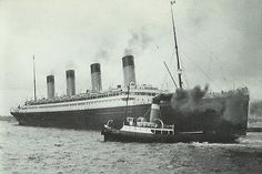 White Star's Olympic and tugboat