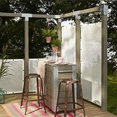 Vindskydd PLUS Windbreaker 90x180 cm Vit - Skärmar & Vindskydd
