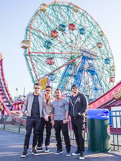 """Star Tracks: Tuesday, June 14, 2016   KIDS AT PLAY   Returning to the site of their 1988 music video """"Please Don't Go Girl,"""" New Kids on the Block members Jordan Knight, Jonathan Knight-Rodriguez, Danny Wood and Donnie Wahlberg take a walk down memory lane at Luna Park in Brooklyn, New York on Thursday. The band's next stop: Coney Island's Wahlburgers – the fast-casual food chain co-owned by Wahlberg – for burgers and tater tots."""