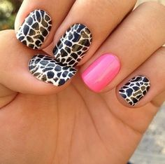 leopard print with pink