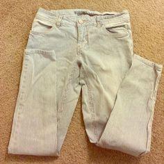 light wash striped jeans